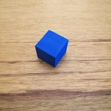 """קובייה """"אילמת"""" מסול צבע כחול"""