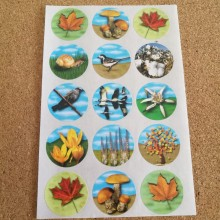 דף מדבקות סמלי הסתיו