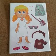 חבילת מדבקות הלבשת ילדה