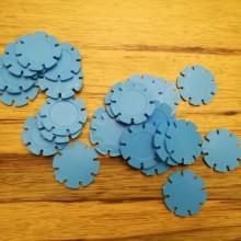 דסקיות פרחים צבע כחול
