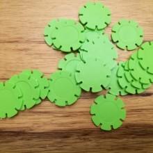 דסקיות פרחים צבע ירוק