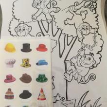 36 יצירות לסיפור מוכר הכובעים +מדבקות