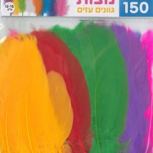 150 נוצות צבעוניות גוונים עזים