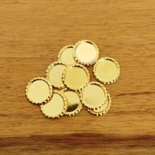 10 פקקים צבע זהב